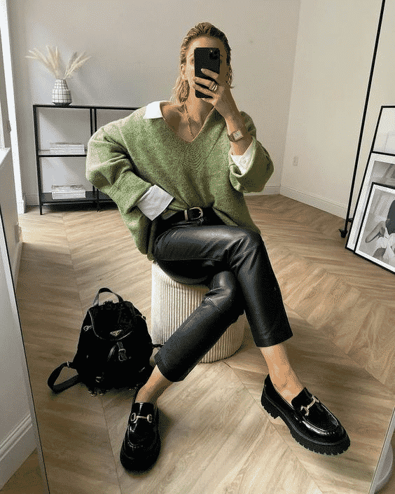 Mocassin look tendance outfit